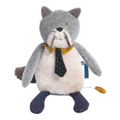 Moulin Roty Les Moustaches Fernand the Cat Musical Doll 27cm