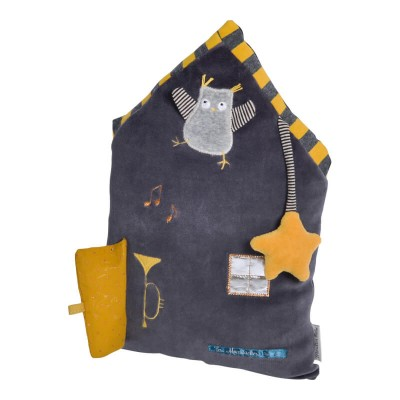 Moulin Roty Les Moustaches Grey House Activity Toy 23x34cm