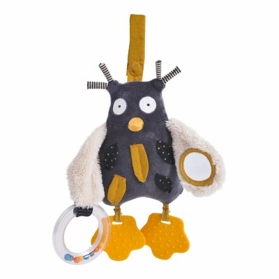 Moulin Roty Les Moustaches Mister Owl Activity Toy 24cm