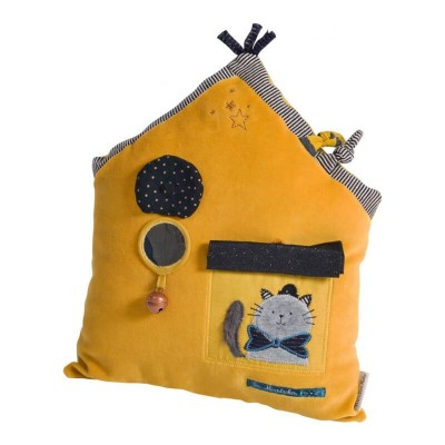Moulin Roty Les Moustaches Yellow House Activity Toy 28x35cm