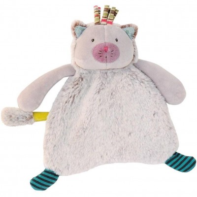Moulin Roty Les Pachats Chacha Grey Cat Baby Comforter Doudou 22cm