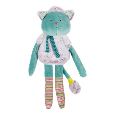Moulin Roty Les Pachats Square Blue Cat Comforter 36cm
