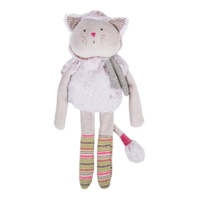 Moulin Roty Les Pachats Square Grey Cat Comforter 36cm