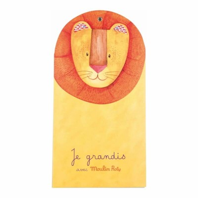 Moulin Roty Les Papoum Wall Hanging Fold-Up Height Chart 15x138cm