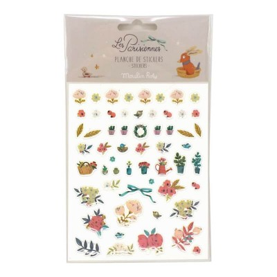Moulin Roty Les Parisiennes 57-Set Flower Stickers 11x14cm