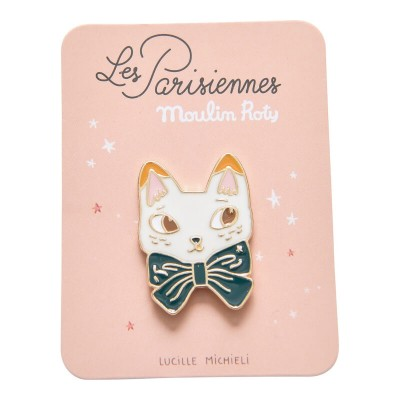 Moulin Roty Les Parisiennes Enamel Pin - Cat 3.5x2.5cm