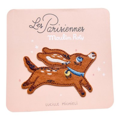 Moulin Roty Les Parisiennes Iron-On Embroidered Patch - Dog 8x5cm
