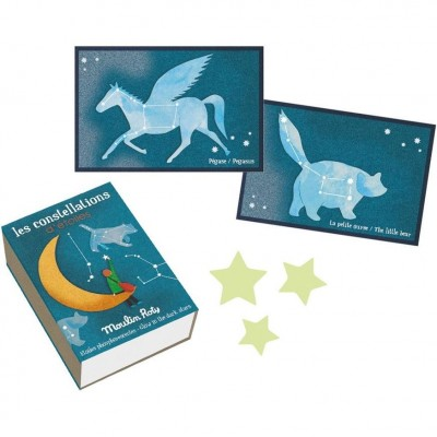 Moulin Roty Les Petites Merveilles Glow-in-the-Dark Constellations 8.5x6.5cm