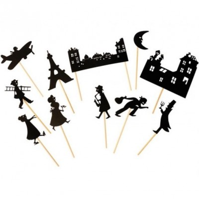 Moulin Roty Les Petites Merveilles Night-Time Shadows, Paris Rooftops (11-Pack)