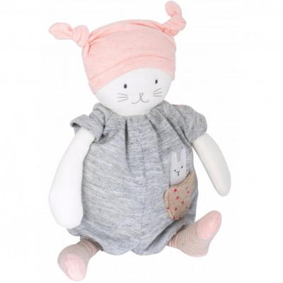 Moulin Roty Les Petits Dodos Cat Musical Doll 28cm