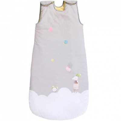 Moulin Roty Les Petits Dodos Grey Sleeping Bag 90cm