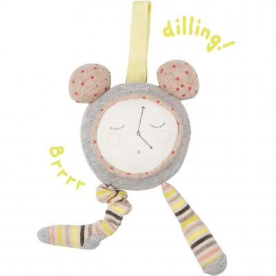 Moulin Roty Les Petits Dodos Jittery Alarm Clock Activity Toy 21cm