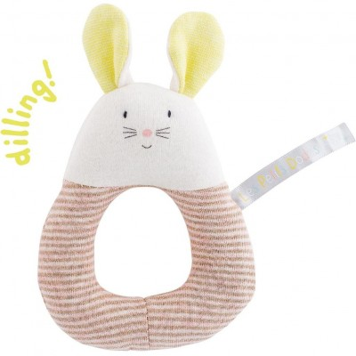 Moulin Roty Les Petits Dodos Mouse Ring Rattle 13cm