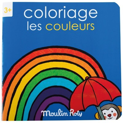 Moulin Roty Les Popipop 20-Page Colouring Book 20x20cm