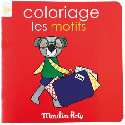Moulin Roty Les Popipop 20-Page Patterns Colouring Book 20x20cm