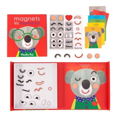 Moulin Roty Les Popipop Expressions Magnetic Game 18.5x20cm