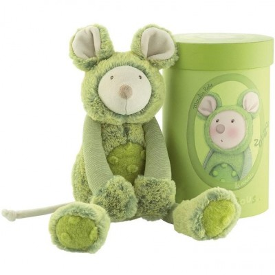 Moulin Roty Les Zazous Green Mouse in a Gift Box 33cm