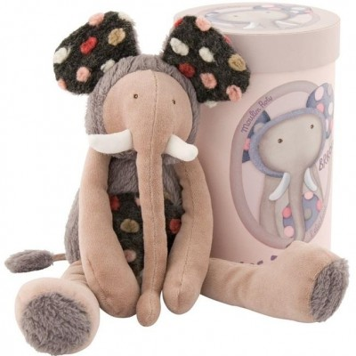Moulin Roty Les Zazous Grey Elephant in a Gift Box 33cm