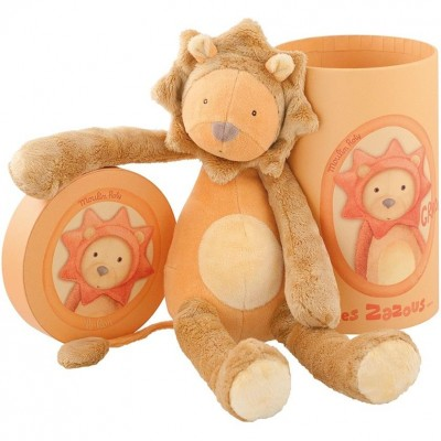 Moulin Roty Les Zazous Lion in a Gift Box 33cm
