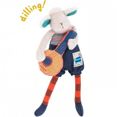 Moulin Roty Les Zig et Zag Banjo-Playing Sheep Rattle 23cm