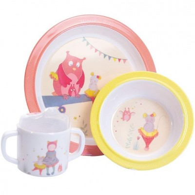 Moulin Roty Mademoiselle et Ribambelle Baby Dish Set ø22cm